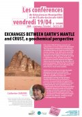 Conférence GM & ED Gaïa : Exchanges between Earth's mantle and crust, a geochemical perspective